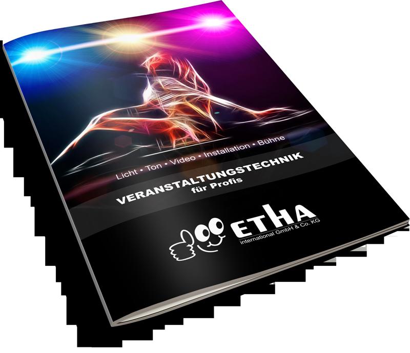 ETHA aktueller Produktkatalog 2015 für Veranstaltungstechnik, Licht, Ton, Video und Installationen