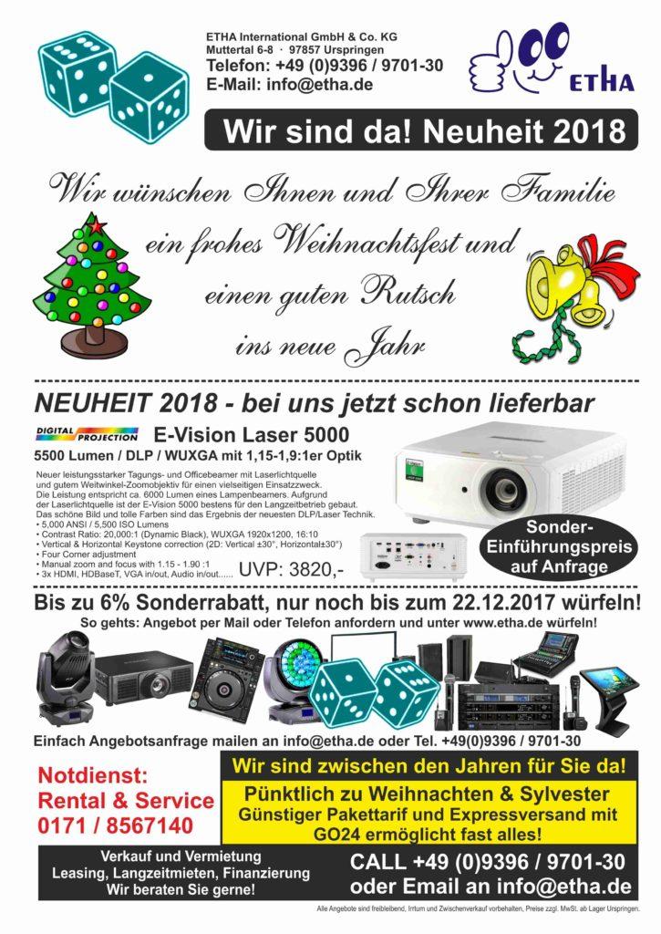 Frohe Weihnachten mit dem Digital Projection E-Vision Laser 5000 ...